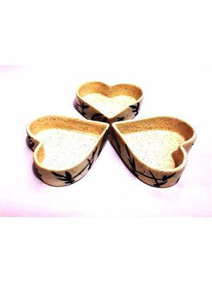Indeasia Srijan ISC000109 Snacks Serving Platter White Floral Design Set Of three
