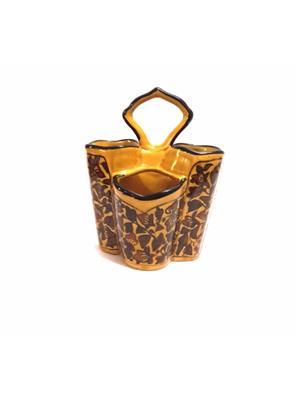Indeasia Srijan ISC000114 Heritage Design Brown Spoon Stand