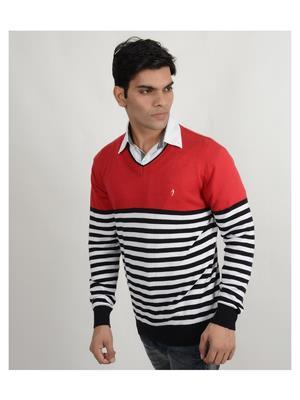 Indian Terrain It-Red-Black Men Sweater