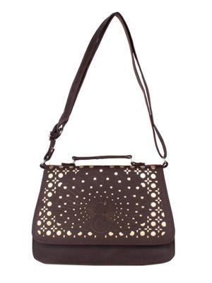 Izapo Izpbn Dark Brown Women Shoulder Bag
