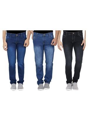 Ansh Fashion Wear J-RM1-RM2-1 Multicolored Men Jeans Set Of 3