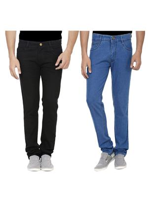 Ansh Fashion Wear J-BLK-RP3-1 Multicolored Men Jeans Set Of 2