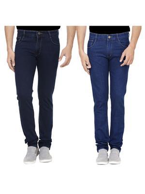 Ansh Fashion Wear J-RP1-RP2-1 Multicolored Men Jeans Set Of 2