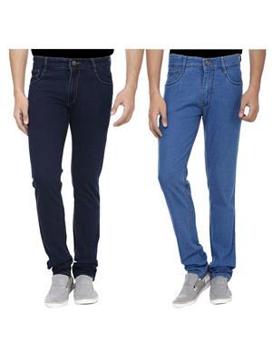 Ansh Fashion Wear J-RP1-RP3-1 Multicolored Men Jeans Set Of 2