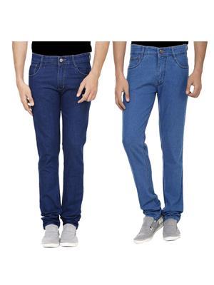 Ansh Fashion Wear J-RP2-RP3-1 Multicolored Men Jeans Set Of 2