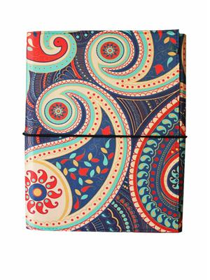 Kolorobia   JA6PS09 Paisley Red A6 Journal