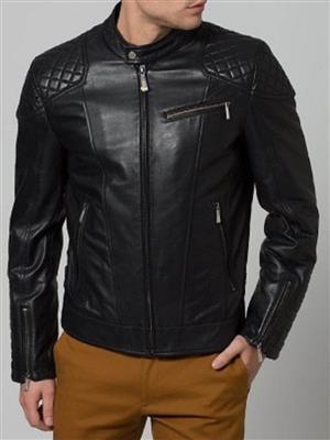 Shama Leather JAKET 19   Black men jacket