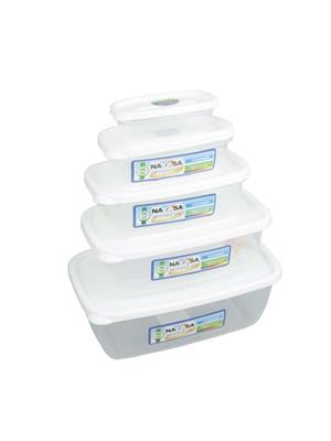 Nayasa Microwave Safe Size 0-4  - 300 ml- 680 ml- 1100 ml- 1800 ml- 150 ml Plastic Food Container