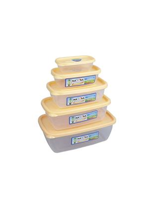 Nayasa Microwave Safe Size 0-4  - 300 ml- 680 ml- 1100 ml- 150 ml- 1800 ml Plastic Food Container -P