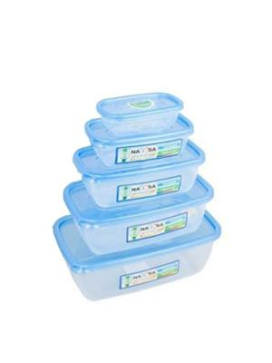 Nayasa Microwave Safe Size 0-4  - 300 ml- 1100 ml- 1800 ml- 150 ml- 680 ml Plastic Food Container -P