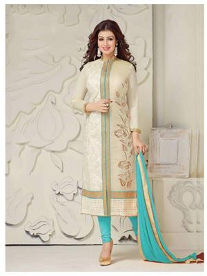 Rahi Fashion Jg-119H Cream Women Salwar Suit
