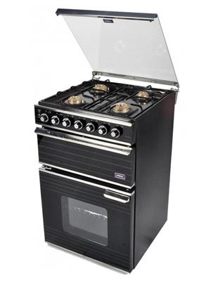 Jindal JIN_    Sapphire Black MILD STEEL  Four Burner Mild Steel Gas Cooking Range