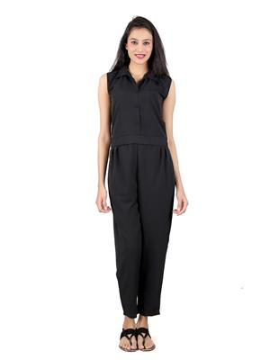 ShivabhiS Jmpblck01 Black Women Jumpsuit