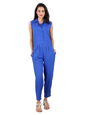 ShivabhiS Jmpblu01 Blue Women Jumpsuit