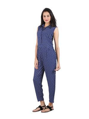 ShivabhiS Jmppol01 Blue Women Jumpsuit