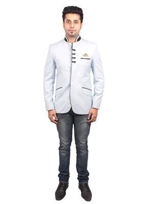 Shaurya-F Jodhlin01 Light Blue Men Blazer