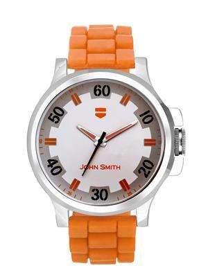 John Smith JS10101-OR Silver-Orange Men Analog Watch