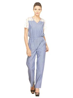 Meee 006 Blue Women Jumpsuit