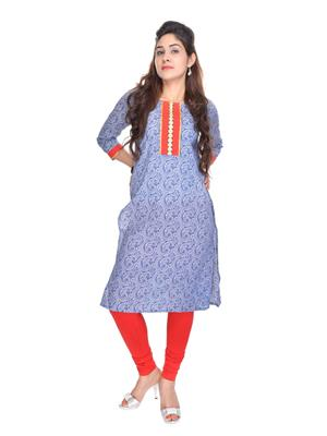 Suti K-13441-IN Indigo Women Kurti