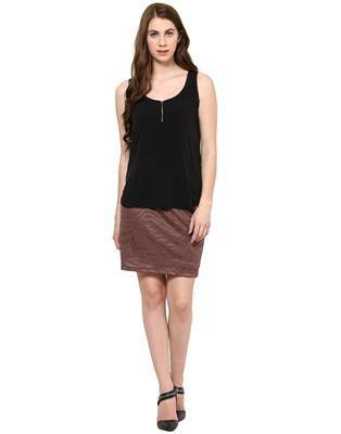 Kaxiaa K-DR-31025B Brown Women Dress
