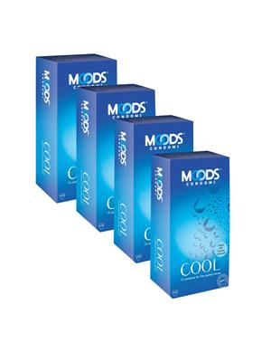 Moods K01CG005 Cool Condom Combo Pack Of  4