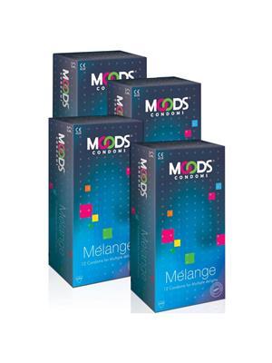 Moods K01ME002  MELANGE  Condom Combo Pack Of  4