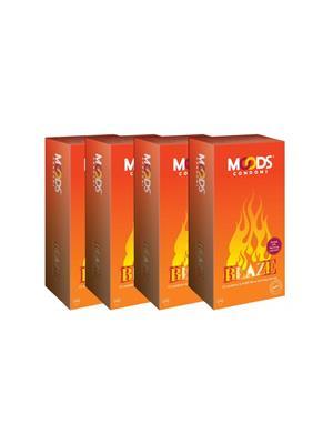 Moods K01WL001 Blaze Condom Combo Pack Of  4