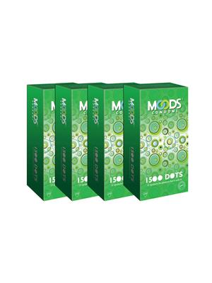 Moods K08010  1500 Dots Condom Combo Pack Of  4