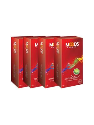 Moods K24007  Absolute Xtasy Condom Combo Pack Of  4