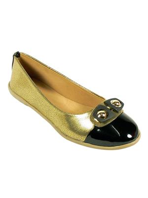 Maayas KBSB-23-Gold Black Women Flat Bellies