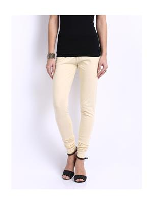 Cotton Lycra KC01 Beige Women Leggings