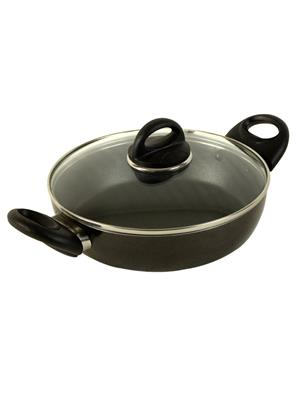 Kitchen Chef Kcffcpwgl220Cc Fry Cook Pot Non-Stick With Glass Lid 220Mm