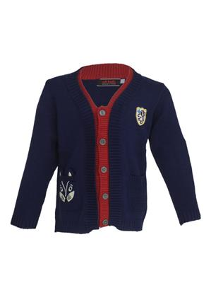 UK Kids WBB238 Blue Boy Full Sleeves Cardigan