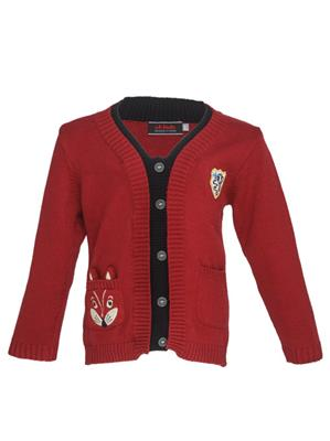 UK Kids WBB238 Maroon Boy Full Sleeves Cardigan