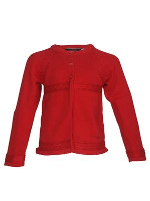 UK Kids WBG303 Red Girl Full Sleeves Cardigan