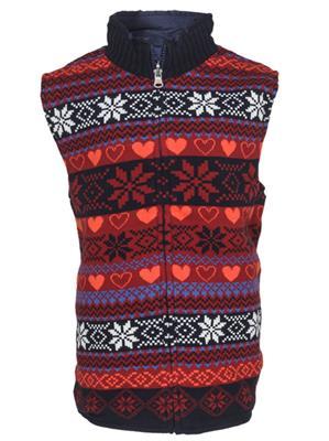 UK Kids WG158 Multi Color Girl Sleeveless Reversible Jacket