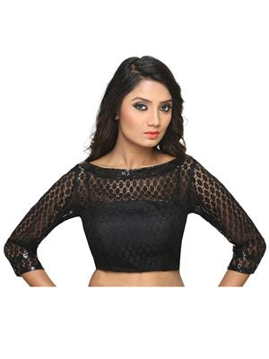 Isha Enterprise KFB-022 Black Women Blouse