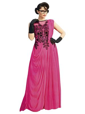 Isha Enterprise KFBG101-10024 Pink Women Gown