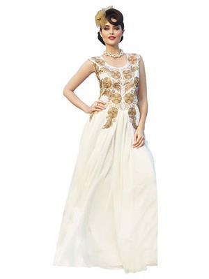 Isha Enterprise KFBG101-10028 White Women Gown