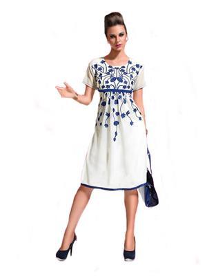 Isha Enterprise KFKT1016 White Women Dresses