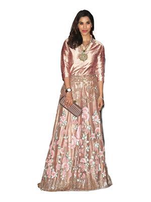 Isha Enterprise KFP-1102 Golden Women Gown
