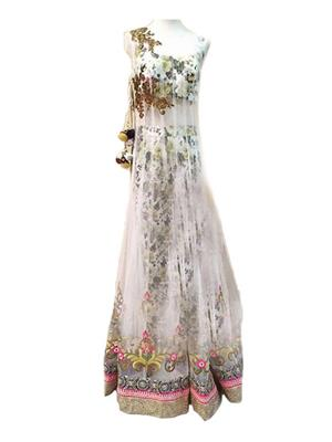 Isha Enterprise KFP-2026 White Women Gown