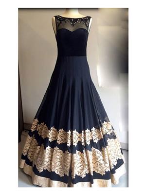 Isha Enterprise KFP-26 Black Women Gown
