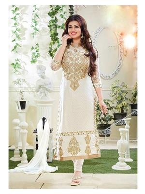 Isha Enterprise KFS635-4104 White Women Salwar Suit