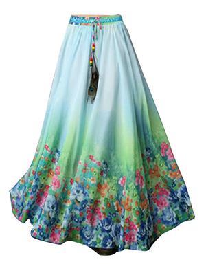 Isha Enterprise KFSKT-13 Multicolored Women Skirt