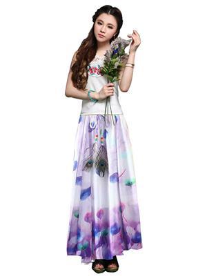 Isha Enterprise KFSKT-25 Multicolored Women Skirt