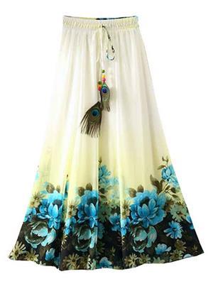 Isha Enterprise KFSKT-29 Multicolored Women Skirt