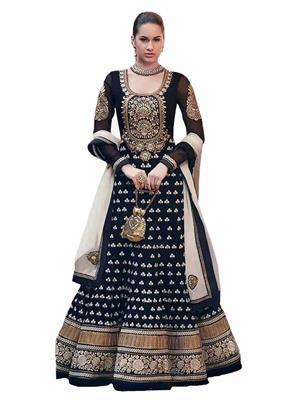 Isha Enterprise KFV1005 Black Women Anarkali Suit