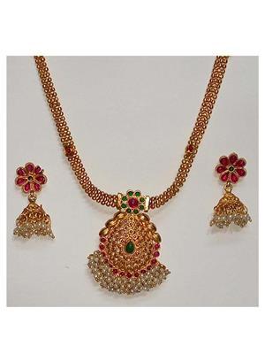 khetlazee kh2008 Golden Women Jewellery Set