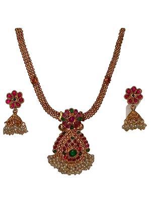 khetlazee kh2009 Golden Women Jewellery Set